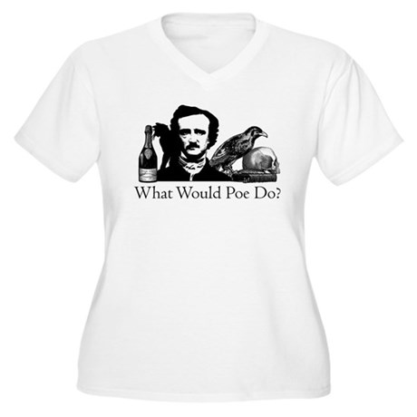 What Would Poe Do? Women's Plus Size V-Neck T-Shir