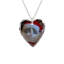 Ragdoll cat in a Santa hat Necklace