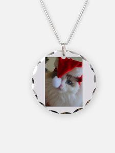 Ragdoll cat in Santa Hat Necklace