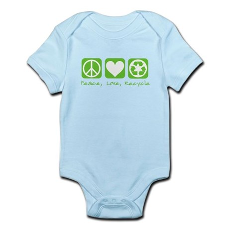 Peace, Love, Recycle Infant Bodysuit