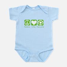 Peace, Love, Recycle Infant Bodysuit