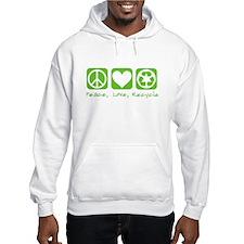 Peace, Love, Recycle Jumper Hoody