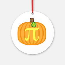 Pumpkin Pi Ornament (Round)