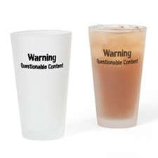 Warning: Questionable Content Drinking Glass