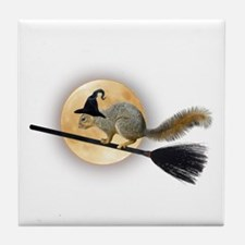Witch Squirrel Tile Coaster