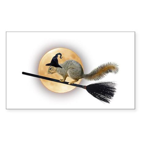 Witch Squirrel Sticker (Rectangle)