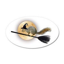 Witch Squirrel Wall Decal