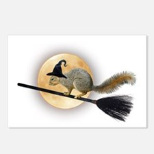 Witch Squirrel Postcards (Package of 8)