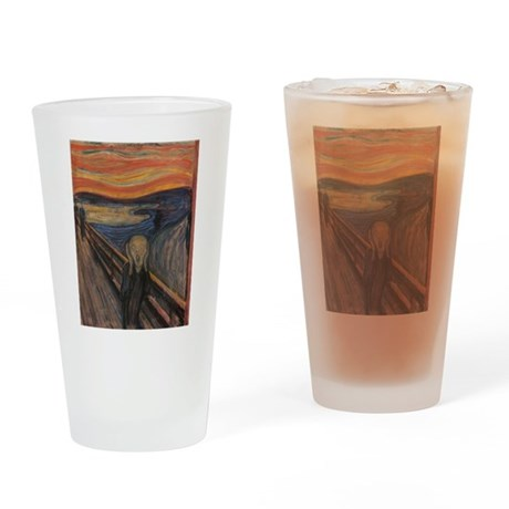 The Scream Drinking Glass