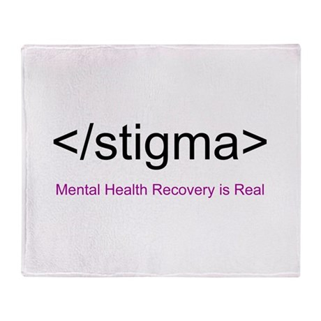 End Stigma HTML Throw Blanket