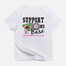 Second 2nd Base Breast Cancer Infant T-Shirt