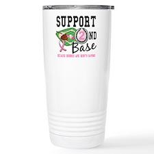 Second 2nd Base Breast Cancer Travel Mug
