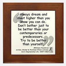 Faulkner Better Quote Framed Tile