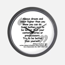 Faulkner Better Quote Wall Clock