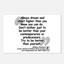 Faulkner Better Quote Postcards (Package of 8)