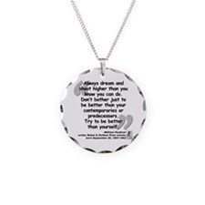 Faulkner Better Quote Necklace Circle Charm