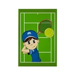 Cute Tennis Boy Magnet (10 Pk)