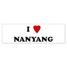 I Love Nanyang Bumper Bumper Sticker