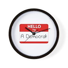 Hello I'm a Democrat Wall Clock
