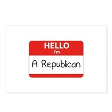 Hello I'm a Republican Postcards (Package of 8)