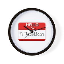 Hello I'm a Republican Wall Clock