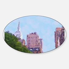 Cute Midtown Sticker (Oval)