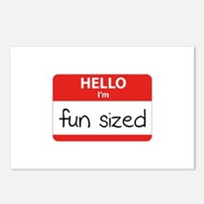 Hello I'm fun sized Postcards (Package of 8)