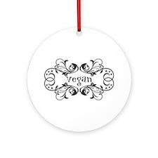 Vintage Vegan Ornament (Round)