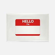 Hello I'm ... Rectangle Magnet