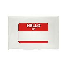 Hello I'm ... Rectangle Magnet (10 pack)