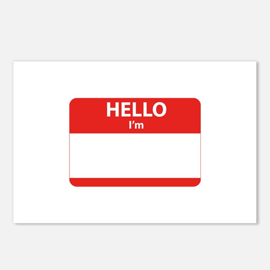 Hello I'm ... Postcards (Package of 8)