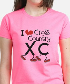 I heart Cross Country Running Tee