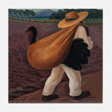 Diego Rivera Mexican Farmer Art Tile Coaster
