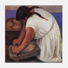 Diego Rivera Molendera Art Tile Coaster