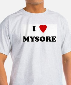 I Love Mysore Ash Grey T-Shirt