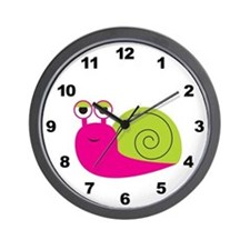 Girl Snail Wall Clock