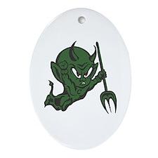 Green Imp Ornament (Oval)