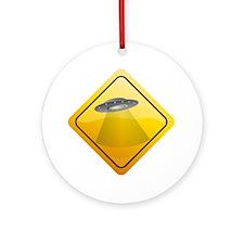 UFO Crossing Ornament (Round)