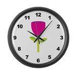 Tulip Flower Large Wall Clock