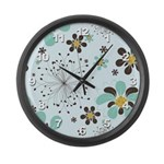 Flower Large Wall Clock