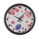 Pretty Floral Large Wall Clock