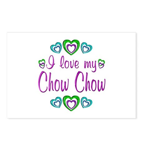 Love My Chow Chow Postcards (Package of 8)