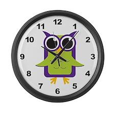 Owl Large Wall Clock