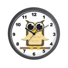 Brown Owl Wall Clock