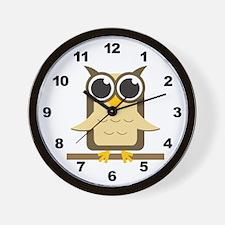 Brown Owl Wall Clock