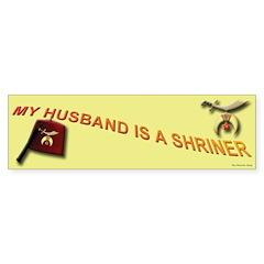 Shriners Wive's Bumper Bumper Sticker