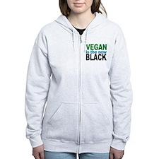Vegan is the New Black Zip Hoodie