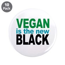 """Vegan is the New Black 3.5"""" Button (10 pack)"""