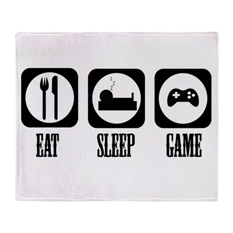 Eat Sleep Game! Throw Blanket