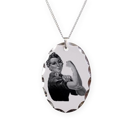 Expressing Your Truth Necklace Oval Charm T2